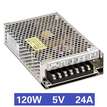 Nguồn tổ ong 120W 5V24A MS-120-5